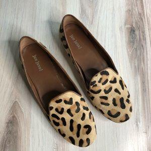 Jon Josef Calf Hair Leopard Print Loafer Flats